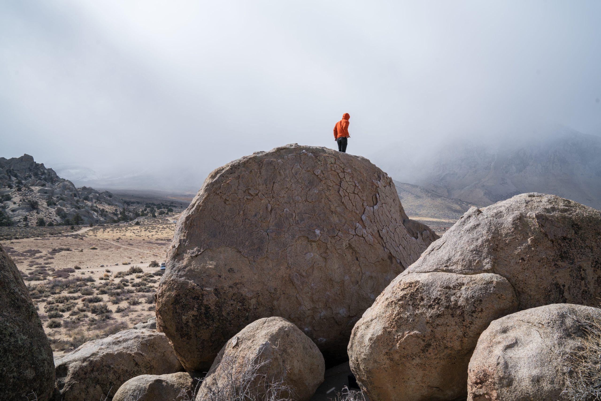 A bouldering rock