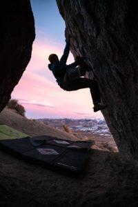 A man bouldering