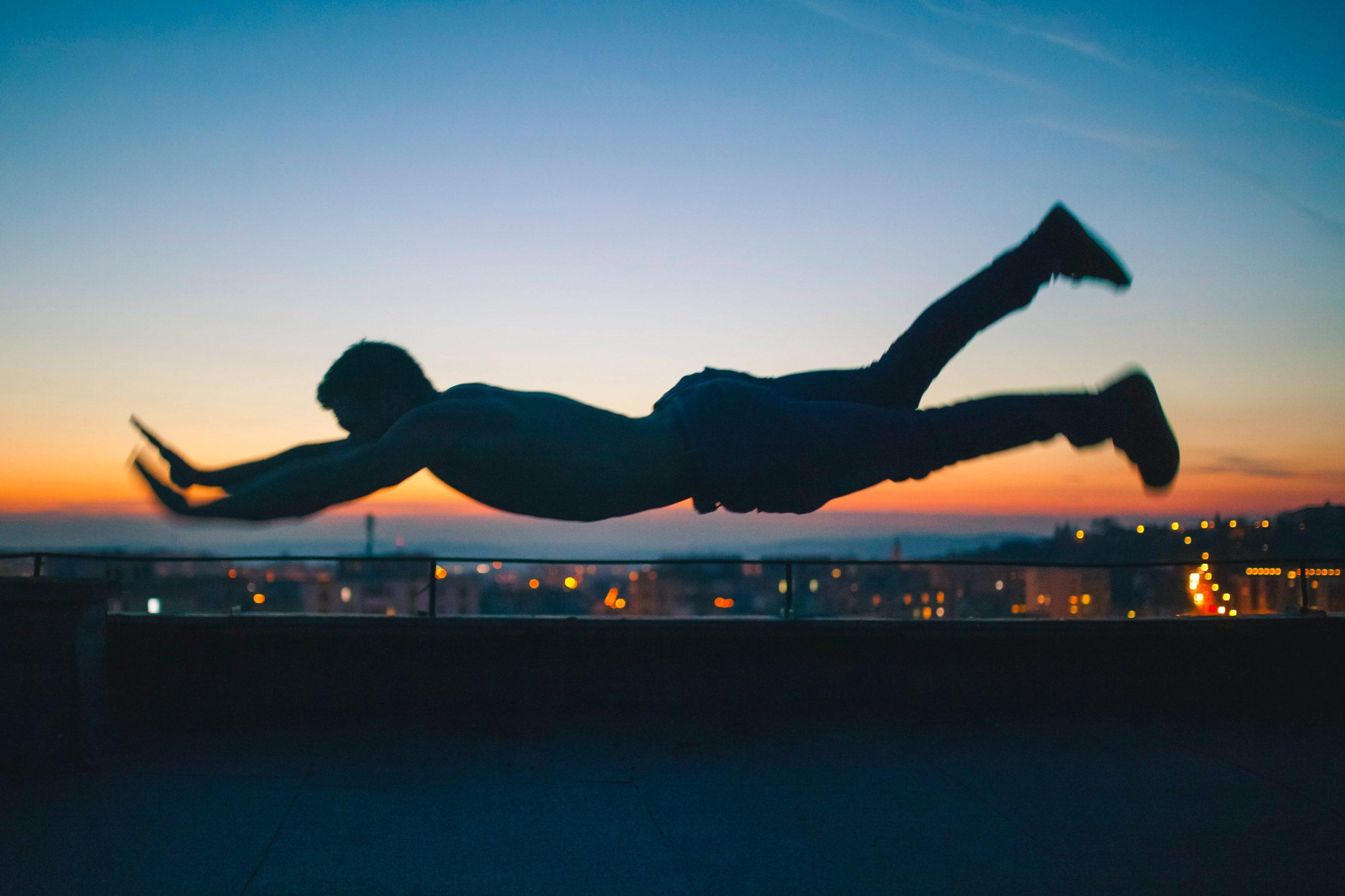 A man falling