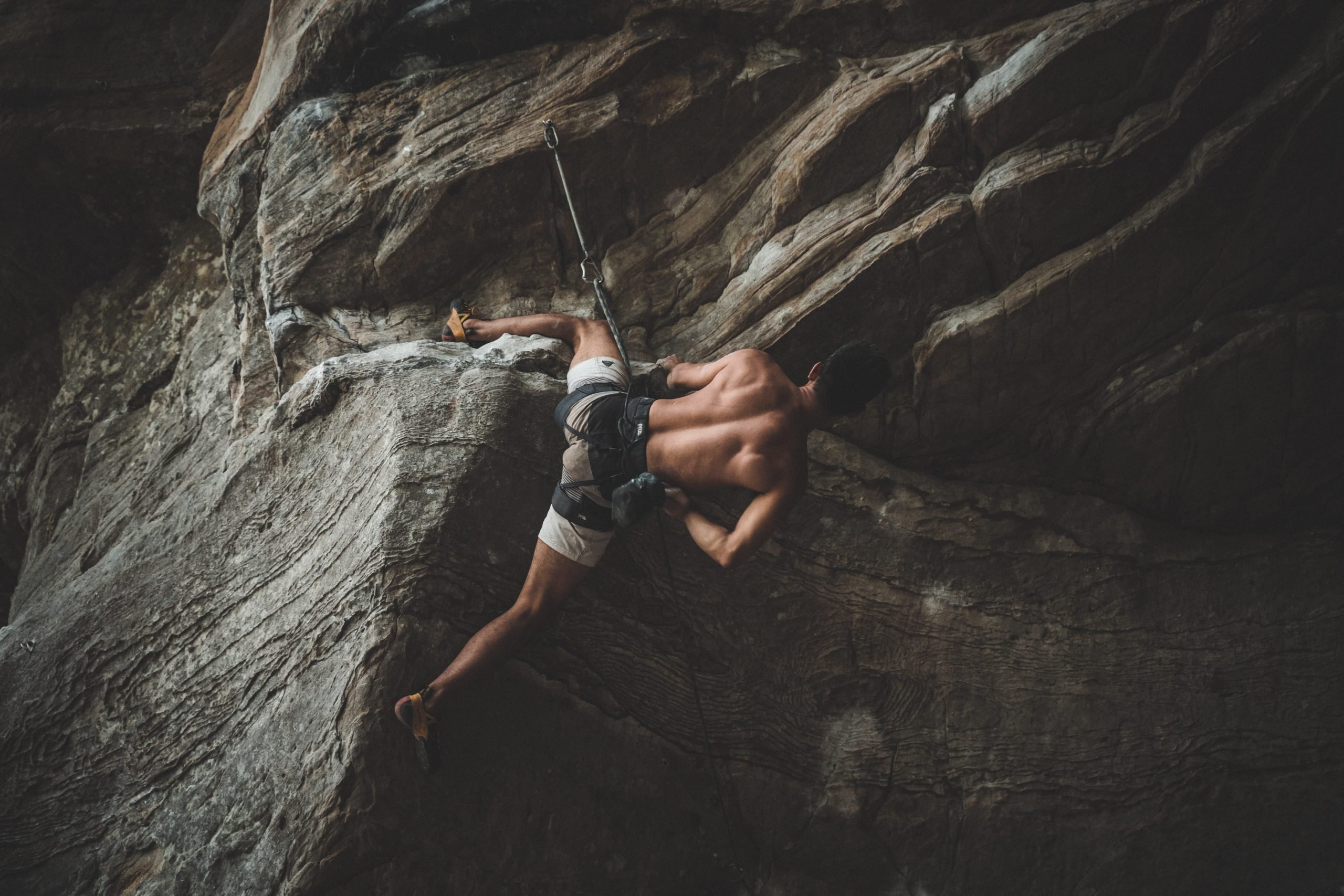 A sport climber