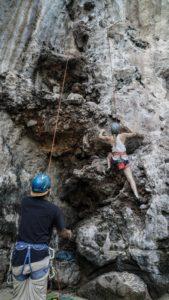 Top rope climbing not bouldering